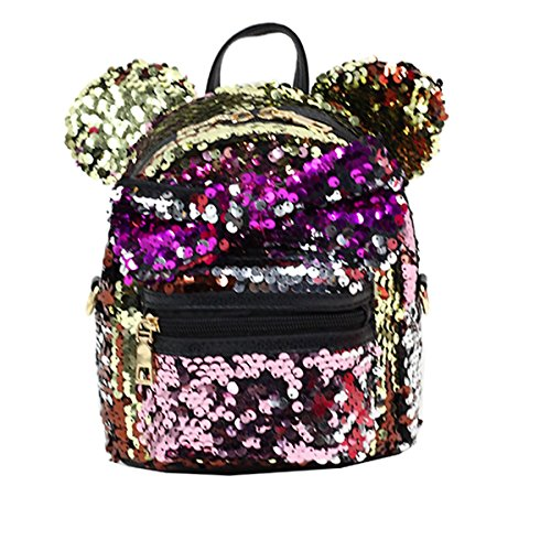 Sequin Bag Cute Gift Gold Bag Birthday Women Backpack Accessories Girl Shoulder Backpack for Kids rAqgwrx