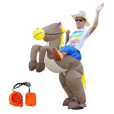 Amazon.com: BUYITNOW Disfraz de unicornio inflable para ...