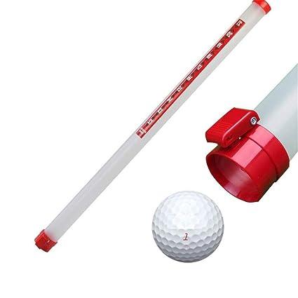 Tripent Recogedor De Pelota De Golf Tubo De PláStico Bola De Golf Selector con NúMero Marca