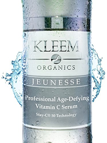 NEW Improved Vitamin C Serum for Face with 25% Vitamin C, 10% Hyaluronic Acid & Vitamin E Oil, that Helps Fade Age Spots, Clear Adult Acne & Get Rid of Wrinkles for a Glowing & Younger Looking Skin from Kleem Organics