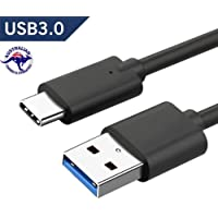 Innovate Tech Australia USB C Cable 1 Meter 3.3 FT Black USB C to USB A 3.0 3.1 5Gbps 5V/3A Fast Charge Cable 56k OHM Resistor 8000+ Bends