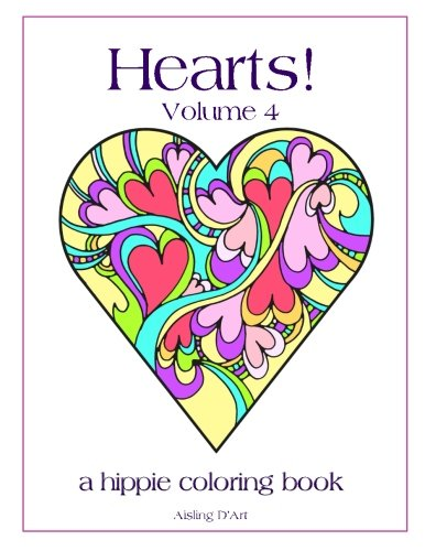 volume 4 a hippie coloring book 9781546932291 aisling dart books - Hippie Coloring Book