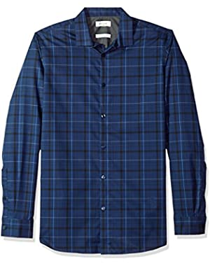 Men's Infinite Cool Button Down Shirt, Atlantis, 2XL
