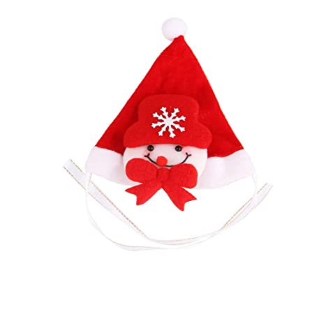 squarex Haustiermütze, Weihnachtsmannmütze, Kleine Welpen, Katzen, Hund, Weihnachten, Feiertagskostüm, Ornamente