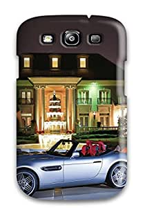 Galaxy S3 Case Cover - Slim Fit Tpu Protector Shock Absorbent Case (bmw)