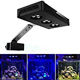 Nano LED Aquarium Light with 2 Dimmable LED Channels Touch Control 9x3w CREE LEDs for Coral Reef Fish Saltwater Tank