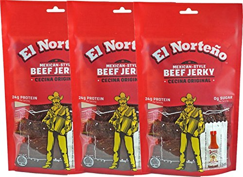Original | Sugar Free Jerky | Thin Cecina-Style Cut | High Protein | Low Carb | 100% Beef | Rich Flavor | Proudly Made in the USA. (3 1.5oz bags)