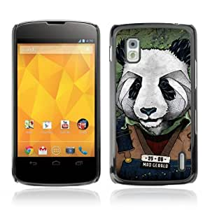 YOYOSHOP [Cool Panda Mug Shot Art] LG Google Nexus 4 Case by lolosakes