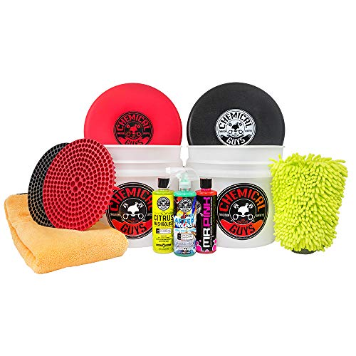 Dry Wash System - Chemical Guys HOL129 Best Two Bucket Wash and Dry Kit (11 Items), 16. Fluid_Ounces, Pack