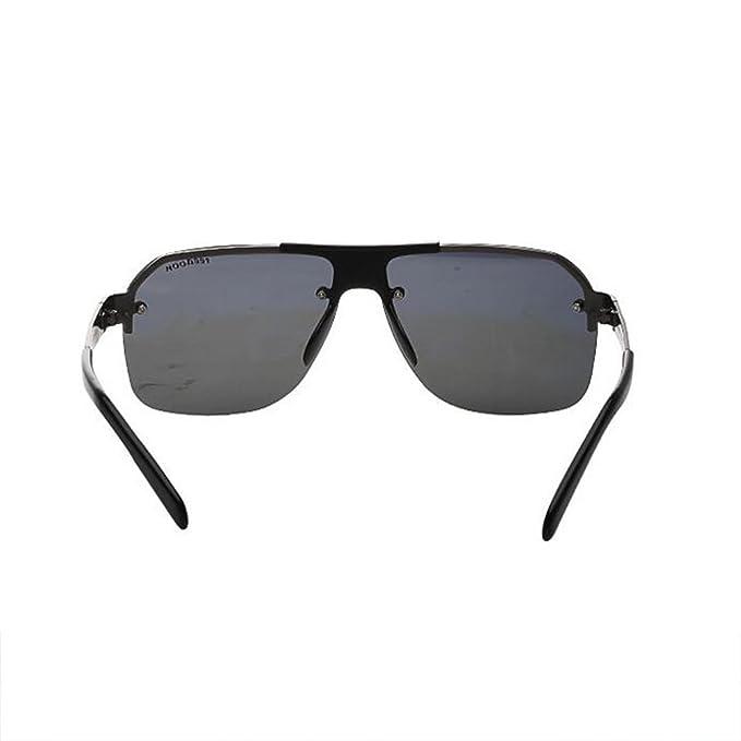 HONEY Professionelle Chauffeur-getriebene Sonnenbrille für Männer - Sicherheit Anti-Explosion HD-Objektiv ( Farbe : Gun color frame ) xg8mKO1l