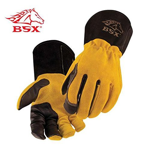 Revco BT88-XL BSX Premium 3 Kidskin Finger Cowhide Back TIG Welding Gloves by Black Stallion