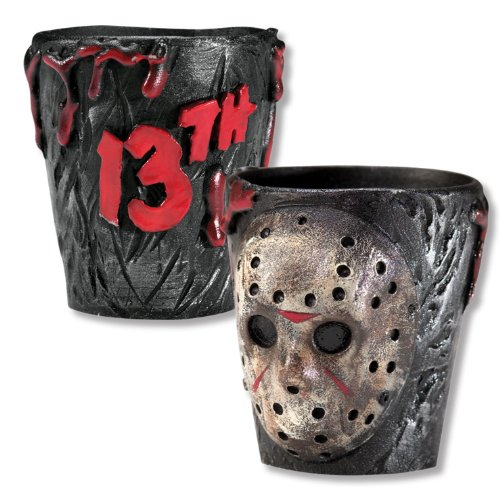 [Friday The 13th Jason Voorhees Drinking Party Shot Glasses, Set of 2] (Jason Vorhees Masks)