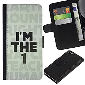 UNIQCASE - Apple Iphone 6 4.7 - I'm The 1 One Human Message - Cuero PU Delgado caso cubierta Shell Armor Funda Case Cover