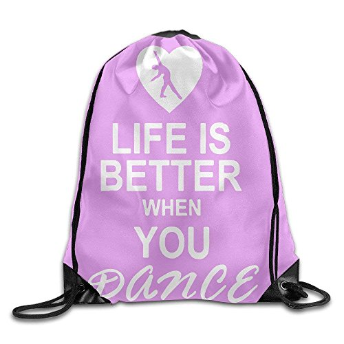 Life Is When You Dance Nylon Drawstring Canvas Bag For Kids by crystars