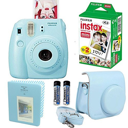 Fujifilm-Instax-Mini-8-Instant-Film-Camera-Pink-Fujifilm-Instax-Mini-Instant-Film-Twin-Pack-20-Sheets-Pink-PU-leather-Case-With-Photo-Album-64-Pockets-Pink-Value-Set-Bundle-4-item