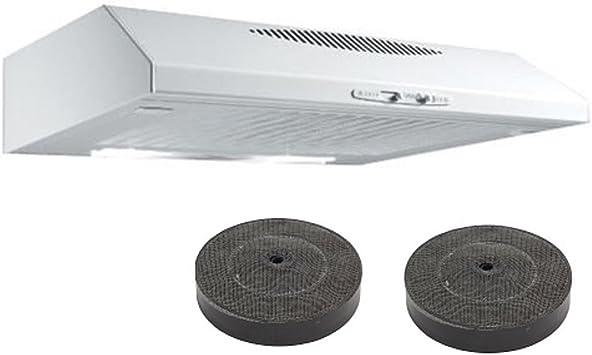 Turboair by Elica- Campana extractora 60 de cocina, para colocar bajo el mobiliario, blanco, 2 motores: Amazon.es: Hogar