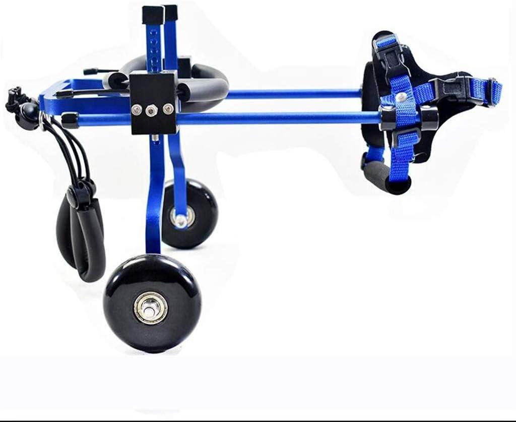 MJY Perro alimentos para mascotas para perros Cama Pet Shop ajustable silla de ruedas/minusválidos pie/pierna trasera del asiento del coche de deportes de coches para mascotas asistido (Color: Ro