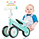 JOLLITO Baby Balance Bike for 10-24 Months-Adjustable Baby Bike,Sturdy Balance Bike for 1 Year Old Boy Girl, Best First Birthday Gifts, Safe Riding Toys for 1 Year Old Girl Boy Toddler Baby Bicycle