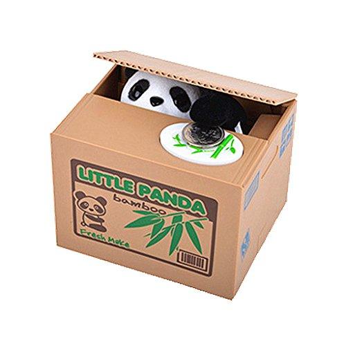 ALIMITOPIA Saving Money Box,Vocal Mischief Stealing Coin Piggy Bank Coin Storage Pot(Cartoon Panda)