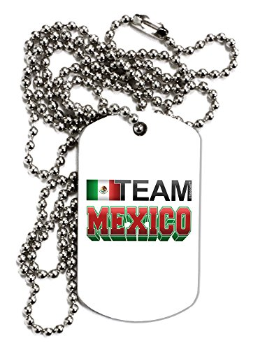 TooLoud Sporty Team Mexico Adult Dog Tag Chain Necklace - 12 Pieces