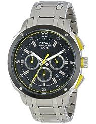 Pulsar Mens PT3393 Analog Display Japanese Quartz Silver Watch