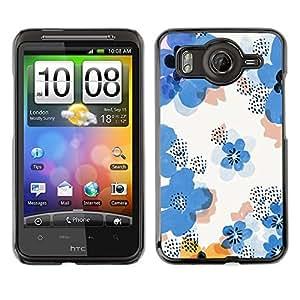 TopCaseStore / la caja del caucho duro de la cubierta de protección de la piel - Flower Pattern White Clean Floral - HTC G10