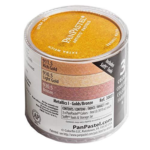 Panpastel pack 3 colores  Metallics Golds/bronze