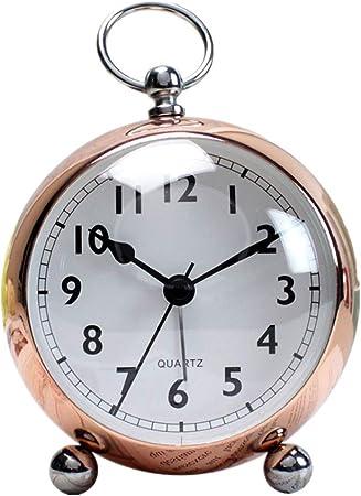 KUOZEN Reloj Digital Pared Grande Reloj Despertador Vintage Reloj de Mesa Despertador de Radio Digital Luz de Alarma Reloj Reloj led Rose Gold: Amazon.es: Hogar
