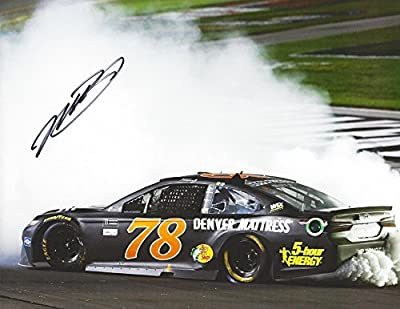 AUTOGRAPHED 2017 Martin Truex Jr. #78 Furniture Row Racing KENTUCKY RACE WIN (Victory Burnout) Signed Collectible Picture NASCAR 9X11 Inch Glossy Photo with COA