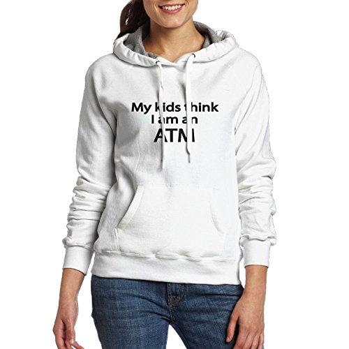 Clemson Piggy Bank (ZhiqianDF Women My Kids Think I Am An ATM Fashion Jogging White Fleeces XXL)