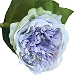 scaling Artificial Flowers, Fake Silk Flowers Peony Floral Wedding Bouquet Bridal Hydrangea Decor Arrangement Home Decor Party Floral Centerpieces Decoration (Blue)