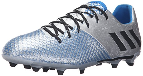adidas Performance Men's Messi 16.2 Fg Soccer Shoe, Silver Metallic/Black/Shock Blue Silver, 10 M US - Silver Soccer Cleats