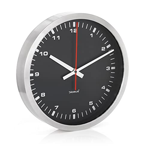 Era Stainless Steel Black Wall Clock