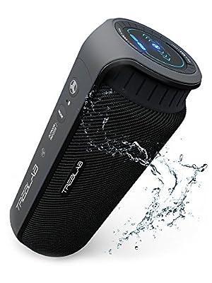TREBLAB HD55 Bluetooth Speaker, Enjoy Loud 360° Surround Sound Indoor or Outdoor, 2017 New Model, Loudest 24W Portable Stereo, Best Bass Blue Tooth Wireless Speakers w/ Speakerphone, Waterproof IPX4