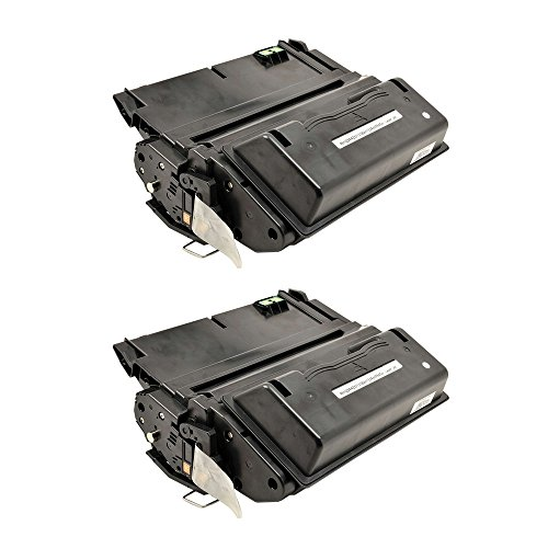 GREENCYCLE 2 PK Compatible Q5942X 42X Black Toner Cartridges For HP LaserJet 4250 4350 4350tn