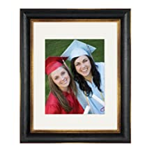 Nielsen Artcare RW1961BG Tuscan Collection Black and Gold Archival Quality 16 by 20-Inch Wood Frame Matted to 11 by 14-Inch