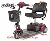 Golden Technologies - Buzzaround XLHD - Travel Scooter - 3-wheel - Red - PHILLIPS POWER PACKAGE TM - TO $500 VALUE