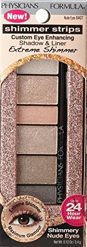 Physicians Formula Shimmer Strips Nude Eyes Extreme Shimmer Shadow and Liner -- 2 per case.