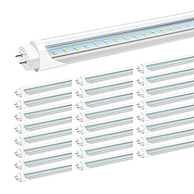 T8 4FT G13 LED Clear Cover 24W Dual Row Double End Powered