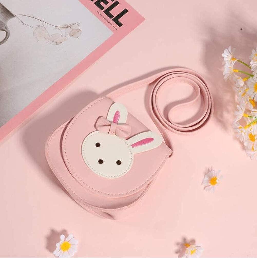 Little Girls Shoulder Bag Kids Cute Handbag Purse Princess Mini Rabbit Cross Body Bag with Adjustable Strap Pink