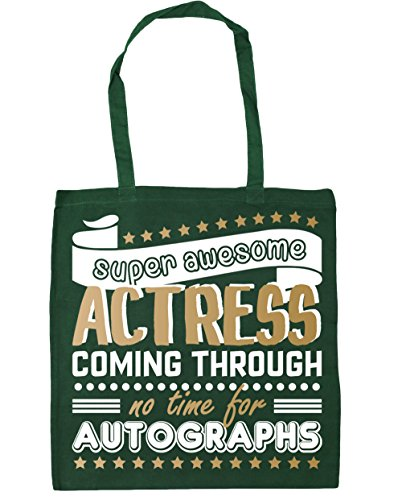 Green 42cm litres HippoWarehouse No Awesome x38cm Bag 10 Gym Beach Time Actress Super Coming Tote Through For Shopping Autographs Bottle HXHw6rBTq