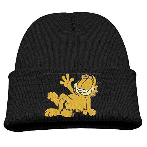 - Kids Garfield And Friends Black Comfort Hat Beanies Cap