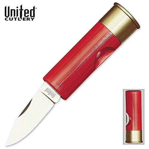 12 Gauge Shotgun Shell Knife - United Cutlery 12 Gauge Shotgun Shell Knife, Red