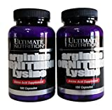 Ultimate Nutrition Arginine Ornithine Lysine Capsules, 100-Count Bottles (Pack of 2) For Sale