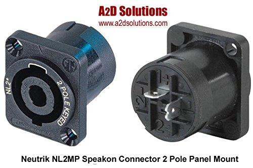 - BAG-10 Neutrik NL2MP Speakon Connector 2 Pole Panel Mount