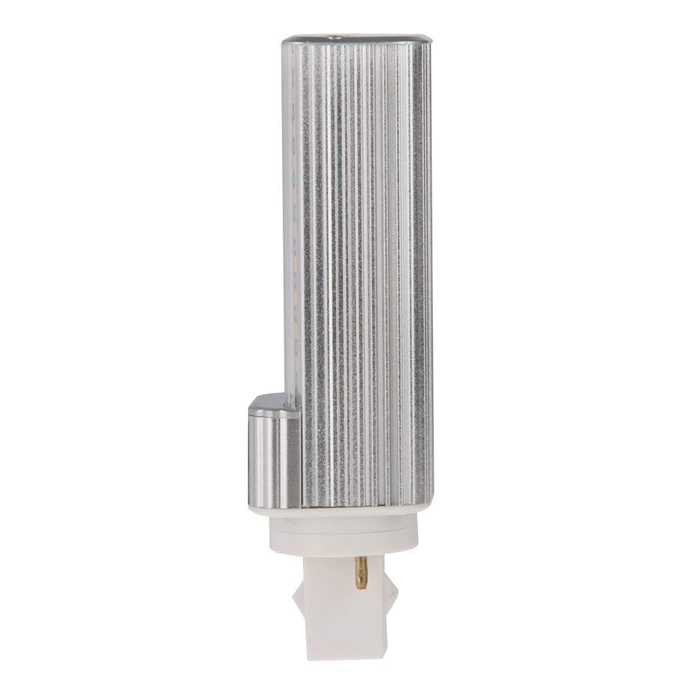 Remove//Bypass The Ballast Natural White 4000K HERO-LED  G24-40S-2P-NW Rotatable PL-C Lamp G24D 2-Pin LED CFL//Compact Fluorescent Lamp 18W Equal 8W