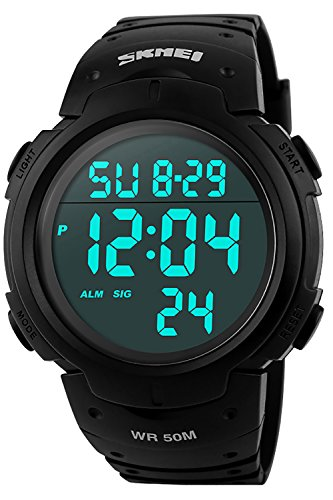 Men's Digital Military Sport Watch – Apantimx Waterproof Electronic Wrist Stopwatch Alarm Army Watches