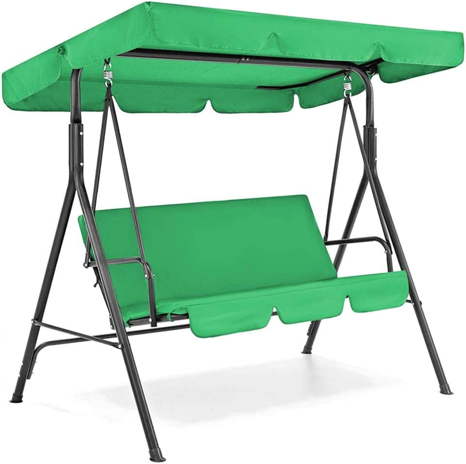 Rxan 3 Seat Swing Canopies Cover & Swing Seat Cushion Cover Set Patio Swing Chair Hammock Replacement Waterproof Garden