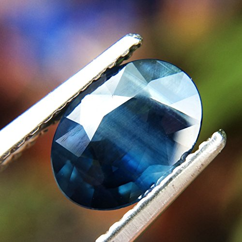 1.32ct Natural Oval Unheated Blue Sapphire Thailand #B by Lovemom (Image #4)