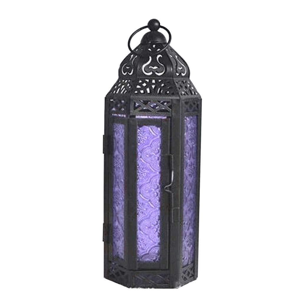 SMALLJUN Creativo Ferro Lanterna Portacandele in Stile Vintage Candlestick Festival Festa Desktop per la casa Tavolo da Pranzo Ornamento Decorazioni da Giardino Verde